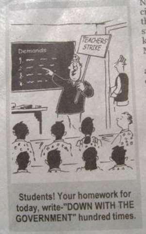Striking teachers to forfeit November salaries if...